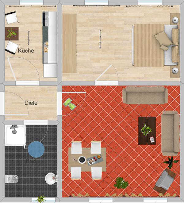 Appartement Pöhlberg Grundriss
