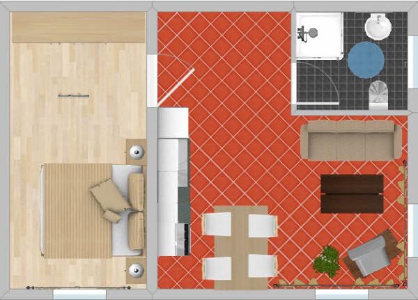 Appartement Scheibenberg Grundriss