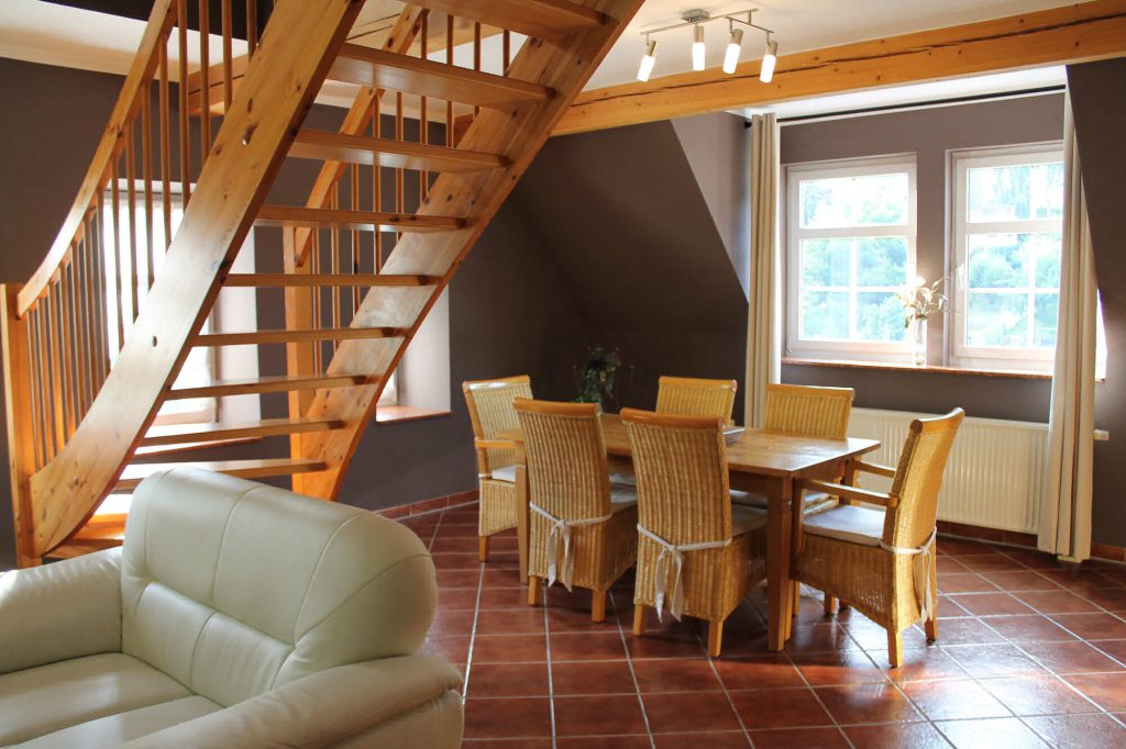 Appartement Fichtelberg - Essbereich und Wohnbereich