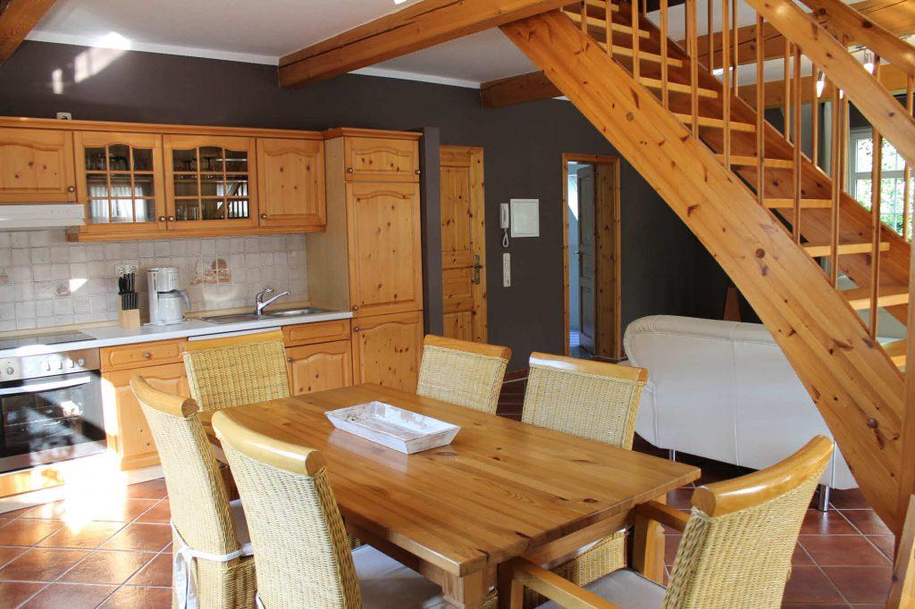 Appartement Fichtelberg - Essbereich und Küche