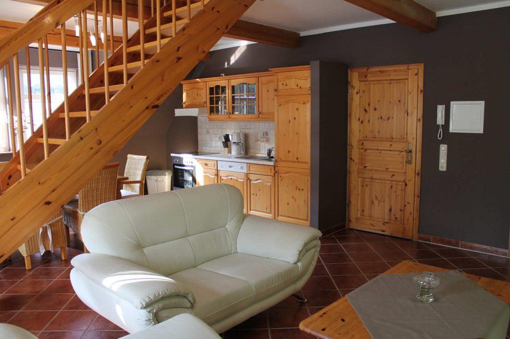 Appartement Fichtelberg - Wohnen und Küche