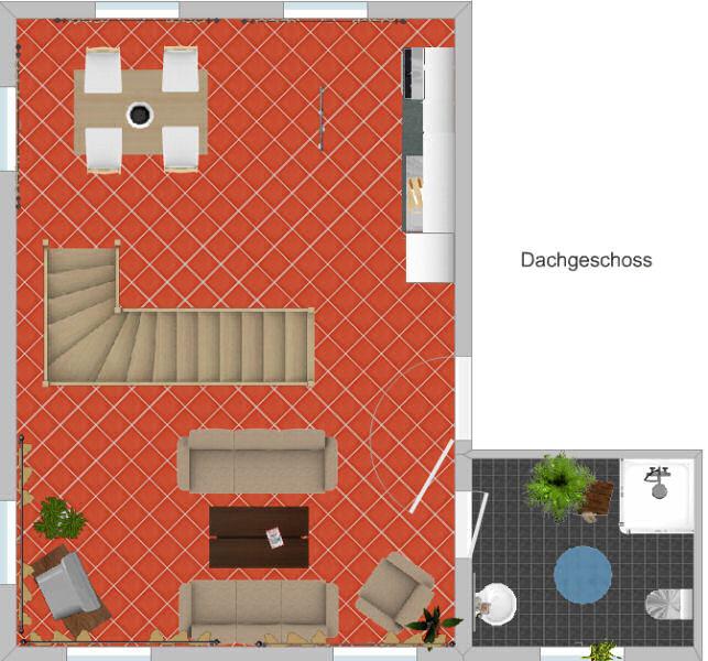 Appartement Fichtelberg - Grundriss Obergeschoss