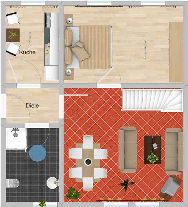 Appartement Keilberg - Grundriss Wohnebene