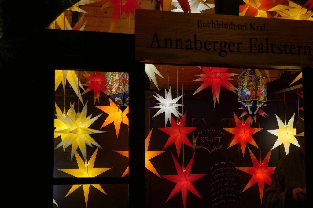 Impressionen Weihnachtsmarkt Annaberger Faltstern