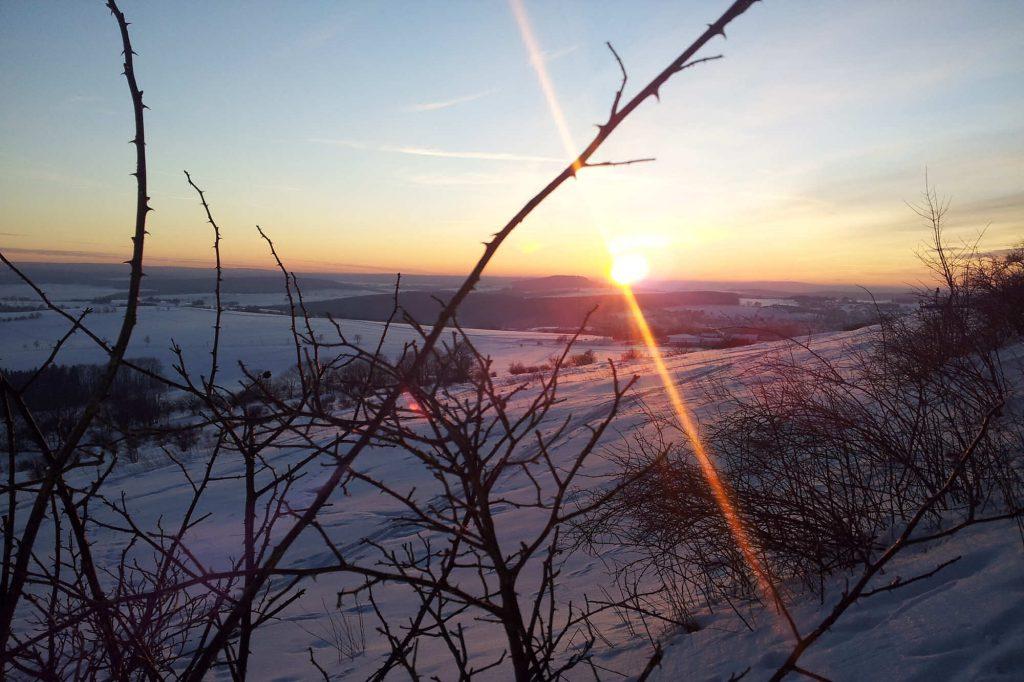 Impressionen Winter Sonnenuntergang