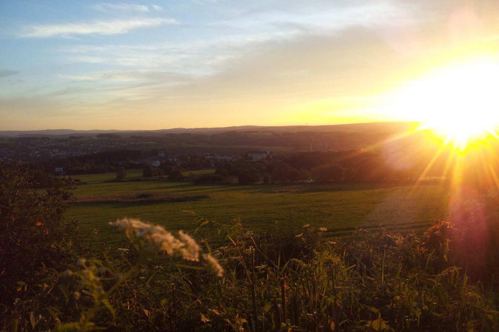 Impressionen Herbst Sonnenuntergang