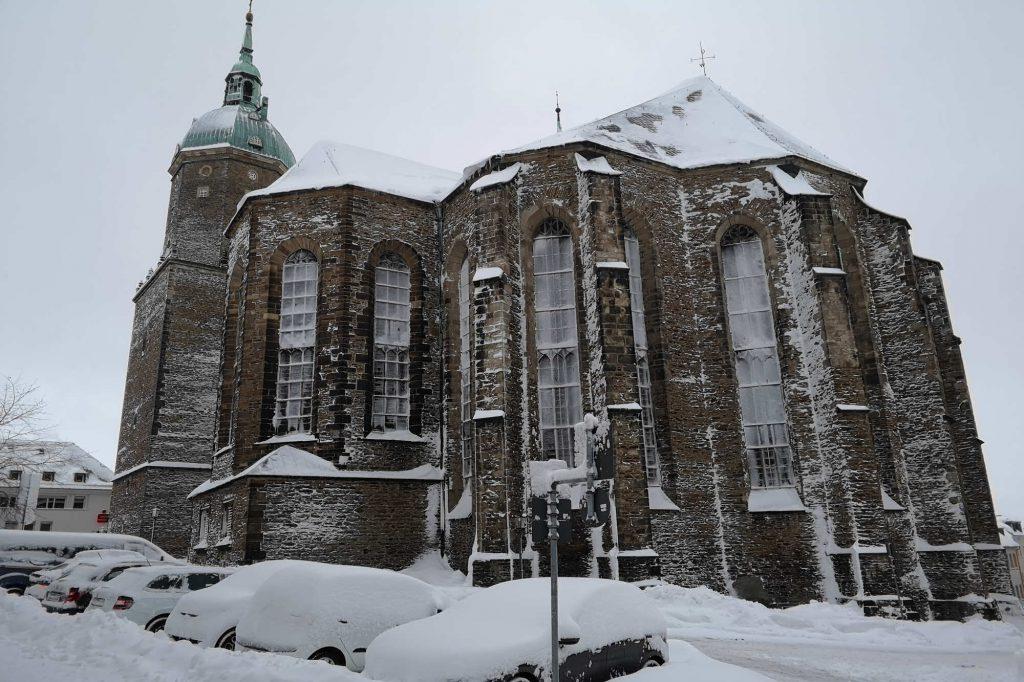 Impressionen Winter St. Annen-Kirche verschneit