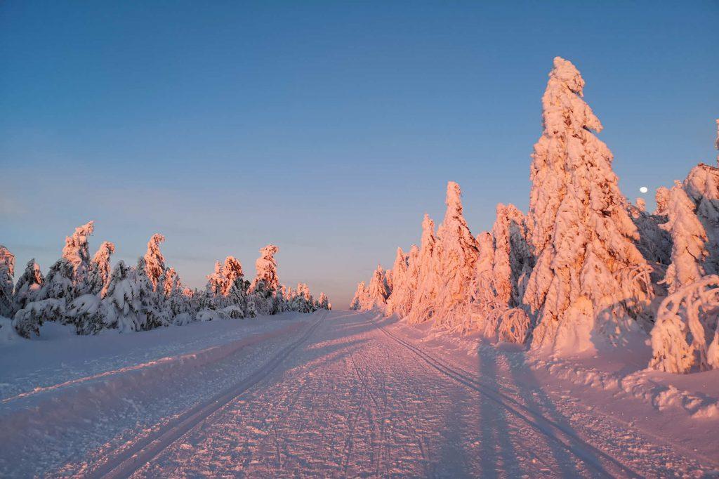 Impressionen Winter im Sonnenuntergang