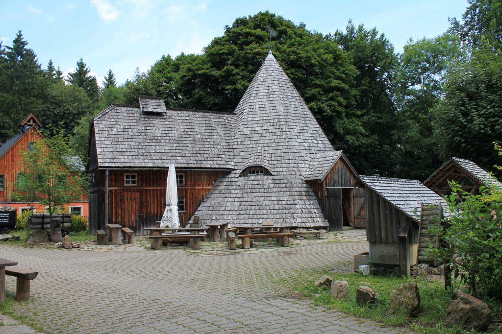 "Impressionen Bergschmiede und Pferdegöpel am ""Markus Röhling Treibeschacht"""