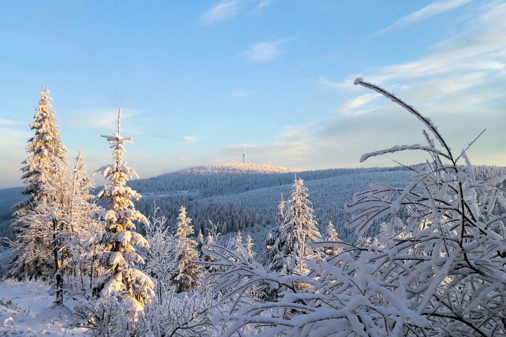 Impressionen Winter Blick zum Keilberg